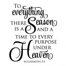 To everything there is a season and a time to every purpose under heaven Ecclesiastes 3:1 wall quotes vinyl lettering wall decal religious faith bible scripture
