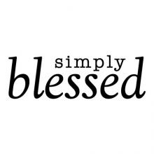 simply blessed wall quotes vinyl lettering wall decal home decor religious faith christian