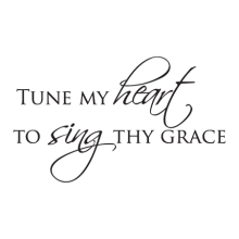 Tune My Heart Elegant Script inspirational great for any home Wall Quotes™ Decal