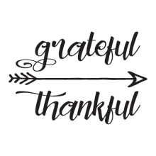 Grateful thankful arrow