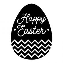 Happy Easter in an egg shape wall quotes vinyl lettering wall decal home decor chevron spring