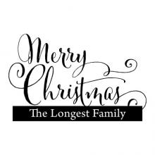 Merry Christmas with custom family name wall quotes vinyl lettering wall decal home decor vinyl stencil custom personalized holiday seasonal