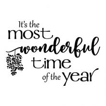 It's the most wonderful time of the year {mistletoe} wall quotes vinyl lettering wall decal home decor vinyl stencil christmas xmas holiday music song