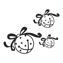 set of three jingle bells seasonal decal