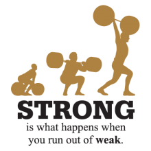 strong is what happens when you run out of weak wall quotes decal
