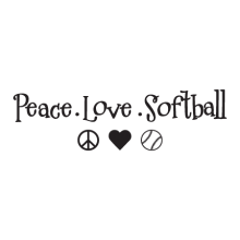 Peace Love Softball Wall Quotes™ Decal perfect for any home