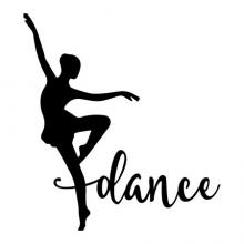 Dance silhouette wall quotes vinyl lettering wall decal home decor ballet dancer dancing girls