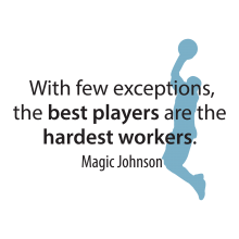 With few exceptions the hardest workers are the best players
