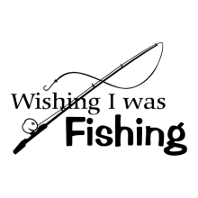Wish I was fishing (with fishing pole)