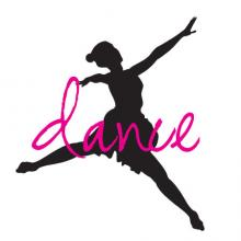 Dance with Silhouette wall quote vinyl decal dancer ballet girl girly