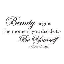Beauty Begins Elegant stylish for any home Wall Quotes™ Decal
