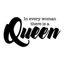 In every woman there is a Queen wall quotes vinyl lettering wall decal home decor style confidence