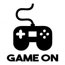 Game On Wall Quotes vinyl Decal video games game controller xbox playstation nintendo