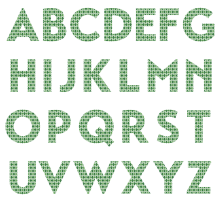 all green argyle textstyles canvas decal letters