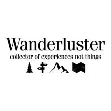 Wanderluster collector of experiences not things {tree, sign, mountain, map} wall quotes vinyl lettering wall decal home decor travel vacation
