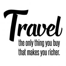 Travel the only thing you buy that makes you richer wall quotes vinyl lettering wall decal home decor vinyl stencil experiences vacation nature road trip