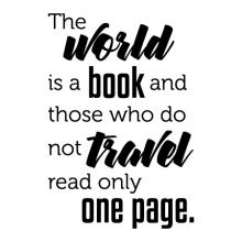 The world is a book and those who do not travel read only one page wall quotes vinyl lettering wall decal home decor vinyl stencil