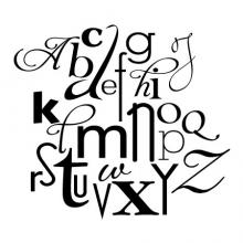 Alphabet A-Z wall quotes vinyl decal home art letters nursery typography