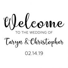 Welcome to the wedding of bride and groom name custom wedding date wall quotes vinyl lettering wall decal wedding decor vinyl stencil custom personalized wedding date names sign