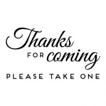 Thanks for coming please take one wall quotes vinyl lettering wall decal home decor wedding diy sign signs favors table