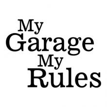 My Garage My Rules wall quotes vinyl lettering wall decal home decor vinyl stencil workshop manly fathers day