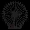 London Eye ferris wheel wall decal