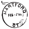hartford CT postmark wall art decal
