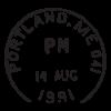 postland me postmark wall art decal