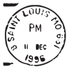 saint louis mo postmark wall art decal
