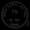 new yok ny may 96 postmark wall art decal