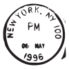 new yok ny may 96 postmark wall art decal