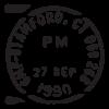 stamford ct postmark wall art decal