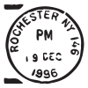 rochester ny postmark wall art decal
