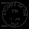 atlanta ga postmark wall art decal