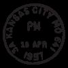 kansas city mo postmark wall art decal