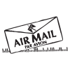 air mail letter postmark wall art decal