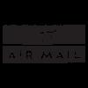 air mail postmark wall art decal