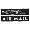 air mail postmark wall art decal