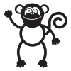 monkey party animal wall art decal