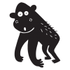 gorilla party animal wall art decal