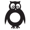 owl party animal wall art decal