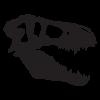 t-rex skull dinosaur fossil wall art decal