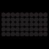 set of 50 polka dots wall decal