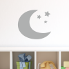 Crescent moon with 3 Stars