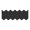 Chevron wall art decal kit