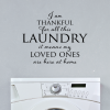 Thankful For Laundry Wall Quotes Vinyl Decal