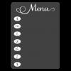 chalkboard menu fancy decal