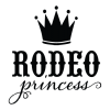 rodeo princess with crown single color wall quotes decal