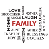 family crossword wall decal
