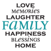 love memories laughter family wall decal